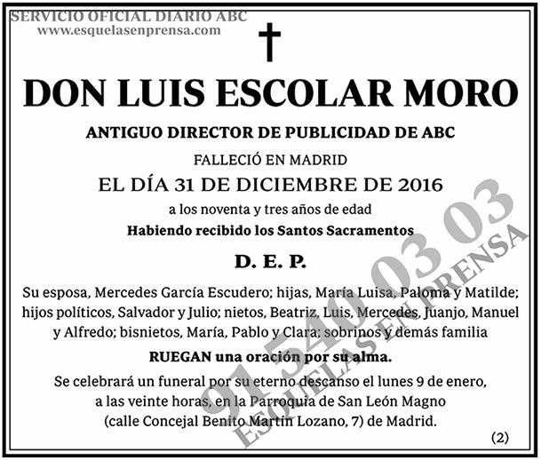 Luis Escolar Moro
